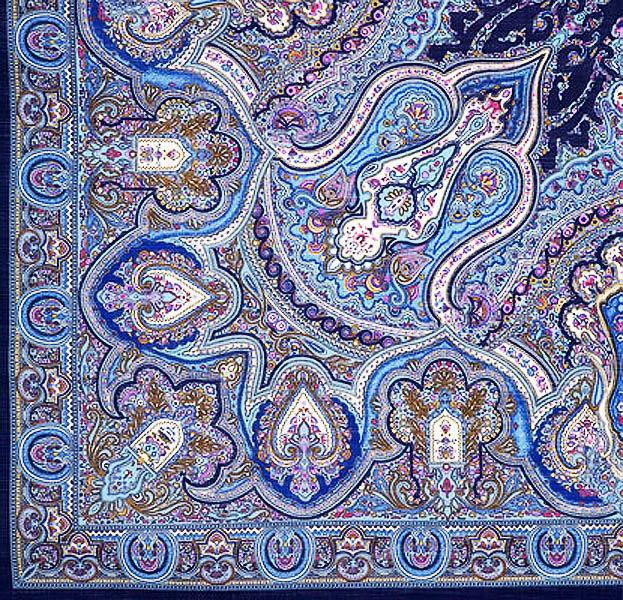Роспись павлопосадский платок