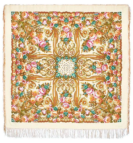 шаблон павлопосадский платок