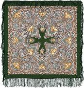 Павлопосадский платок «Яшма»