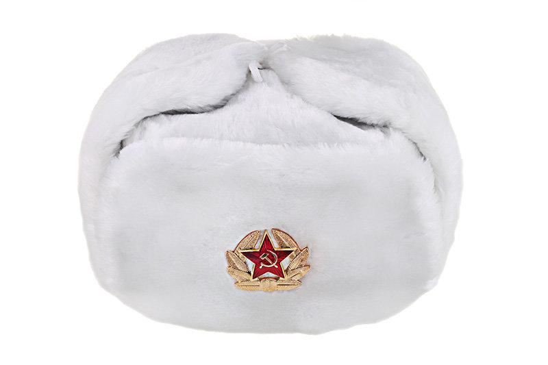 Шапка ушанка Белая купить в интернет-магазине GOLDMOSCOW с доставкой ... be3742ba233ea
