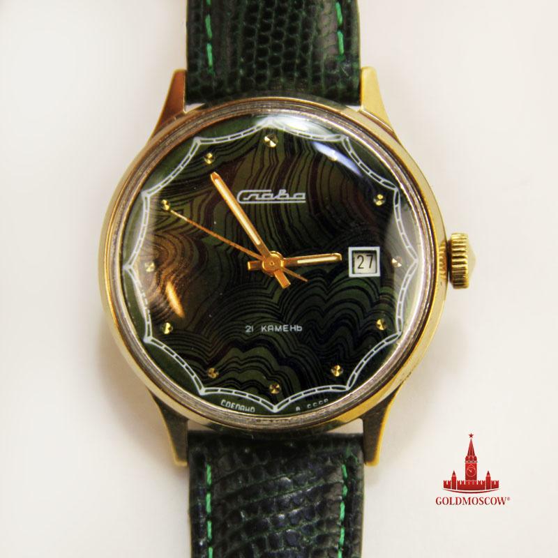 Наручные часы из малахита часы наручные casio baby
