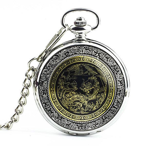 Карманные часы «молния» — позолота (арабские цифры).